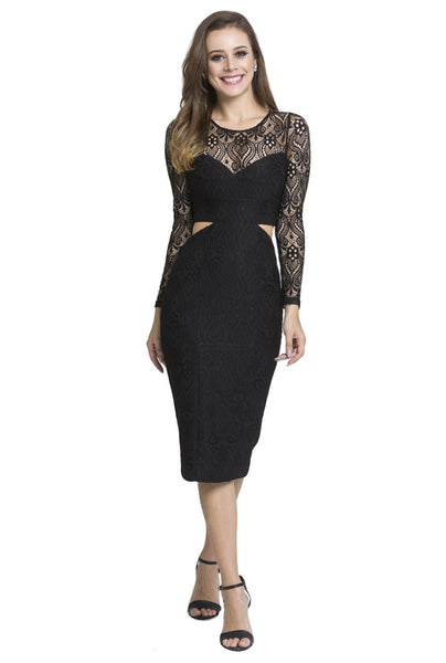 Sasha Lace Dress in Black