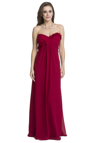 Empire Cut Gown with Flowers on Bodice