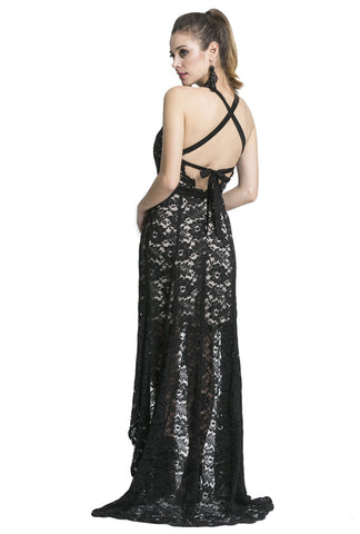 Drifter Asymmetrical Cross Back Maxi Dress