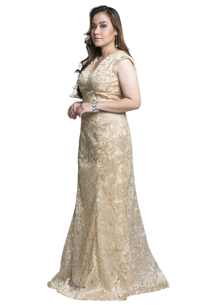 Gold Baroque Dress