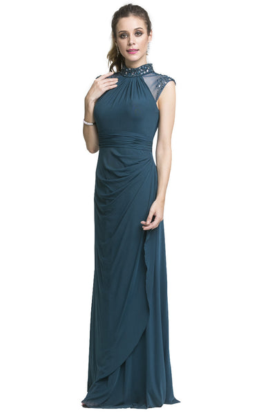 Emerald High Neck Gown