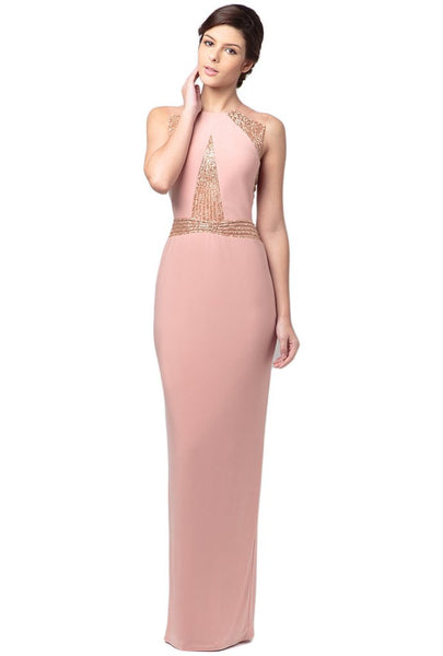Blush Embellished Cut Out Dress