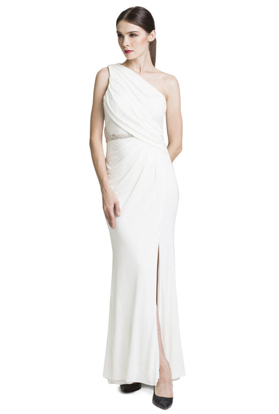Ivory Side Pleat Toga Dress
