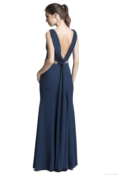 Regal Low-Back Dress