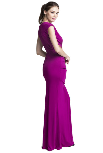 Mulberry V-Neck Gown