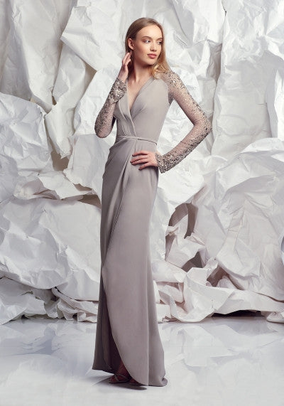 Taupe Elegance Gown