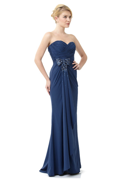 Strapless Sweetheart Trumpet Gown with Bow