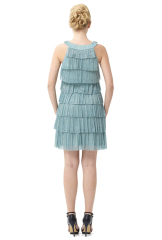 Bejeweled Tiered Cocktail Dress