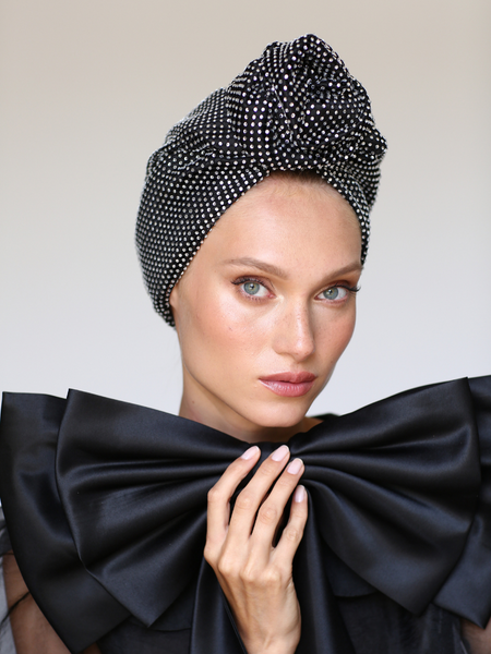 Glam Pleat Turban in Burdungy
