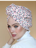 Red & Blue Leopard Turban