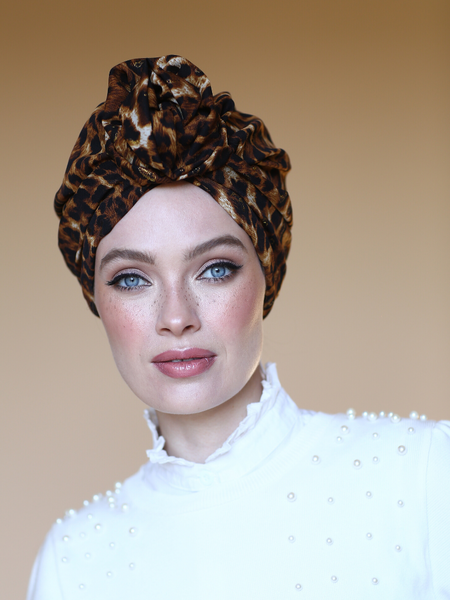 Leopard Flower turban