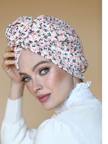 Knit Flower turban