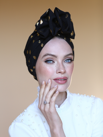 Black&gold ethnic headwrap