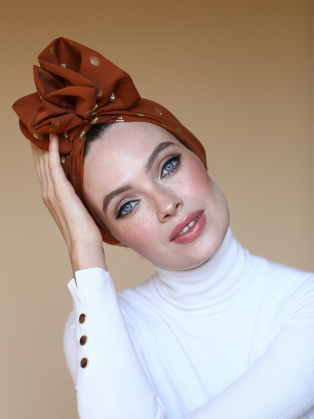 Ethnic full turban w gold