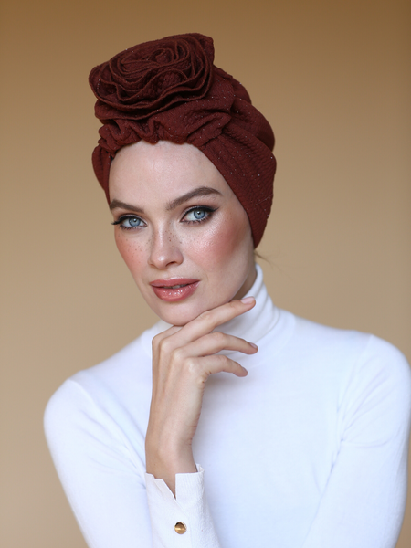 CYNNAMON 3T ROSE TURBAN