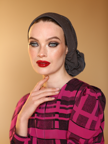 GRAY  3T ROSE TURBAN