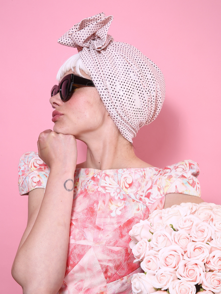 Turban W sequins in Light Pink