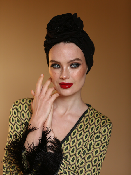 Leopard Flower Turban Hat