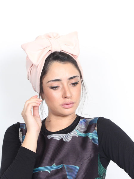 Pink Bow Turban hat