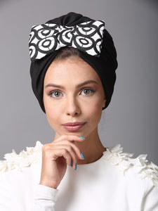 Geometric bow turban