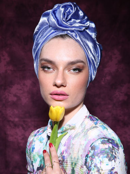 Blue Flower turban