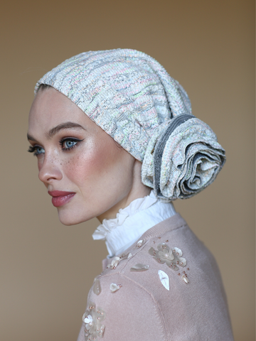White Flower turban