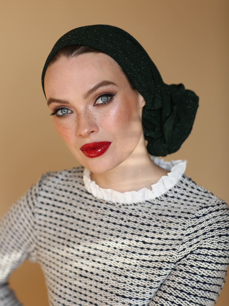 GREEN 3T ROSE TURBAN