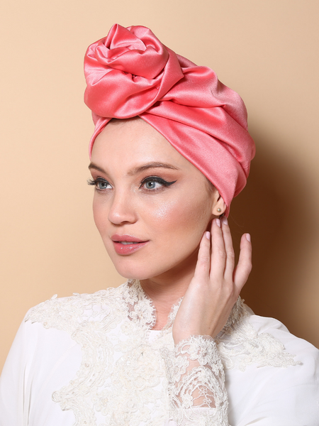 Bubble gum Flower turban