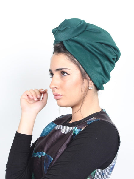 Flower turban headband in Green