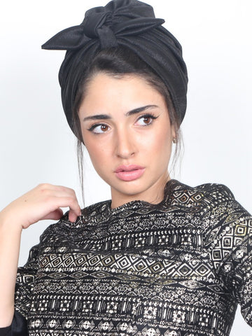 Turban headwrap in black