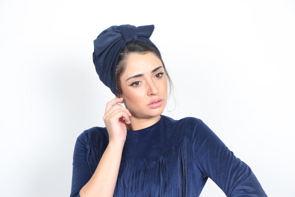 Fashion turban in Blue
