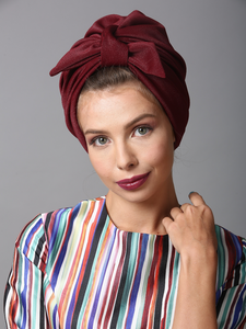 Fashion turban in Burdungy