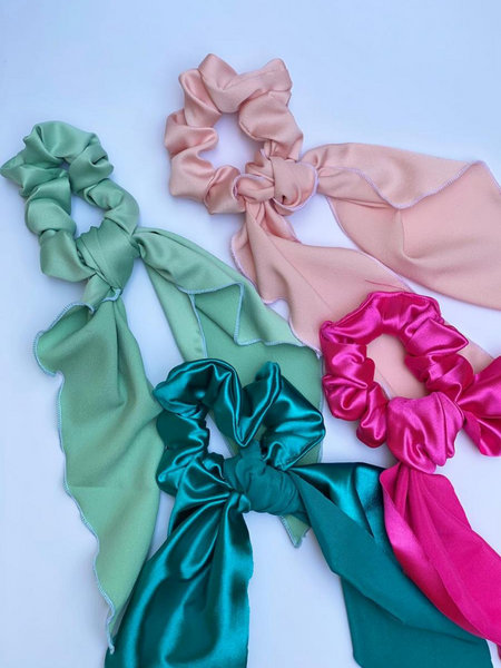 Bow Scrunchie - 8 colors available