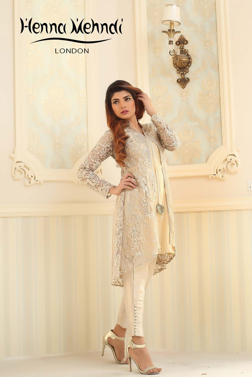 Henna Mehndi Shalwar Kameez Uk London : Gold embroidered jacket outfit henna mehndi