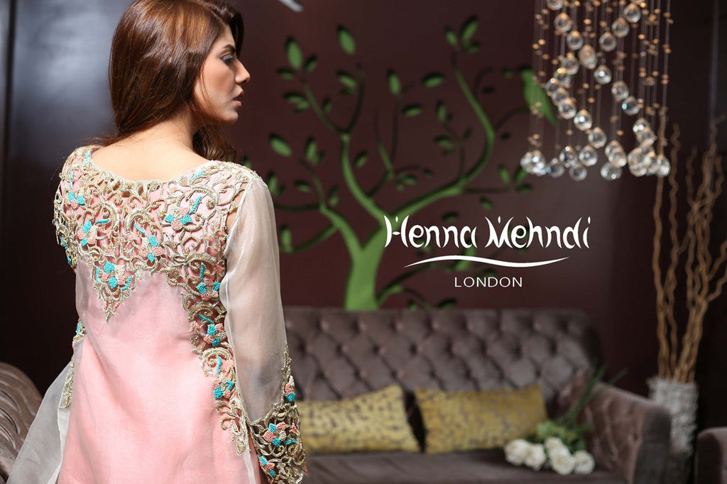 White Cutwork Embroidered Jacket Outfit - Henna Mehndi