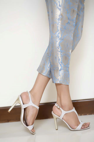 Blue Jamavaar Trousers