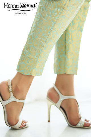 Mint Jamavaar Trousers