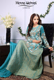 Turquoise Net Pear Embroidered Outfit