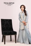 Ice Blue Pearl Embroidered Jacket Outfit