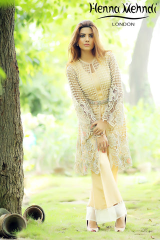 Cream Pearl And Diamante Embroidered Jacket Outfit