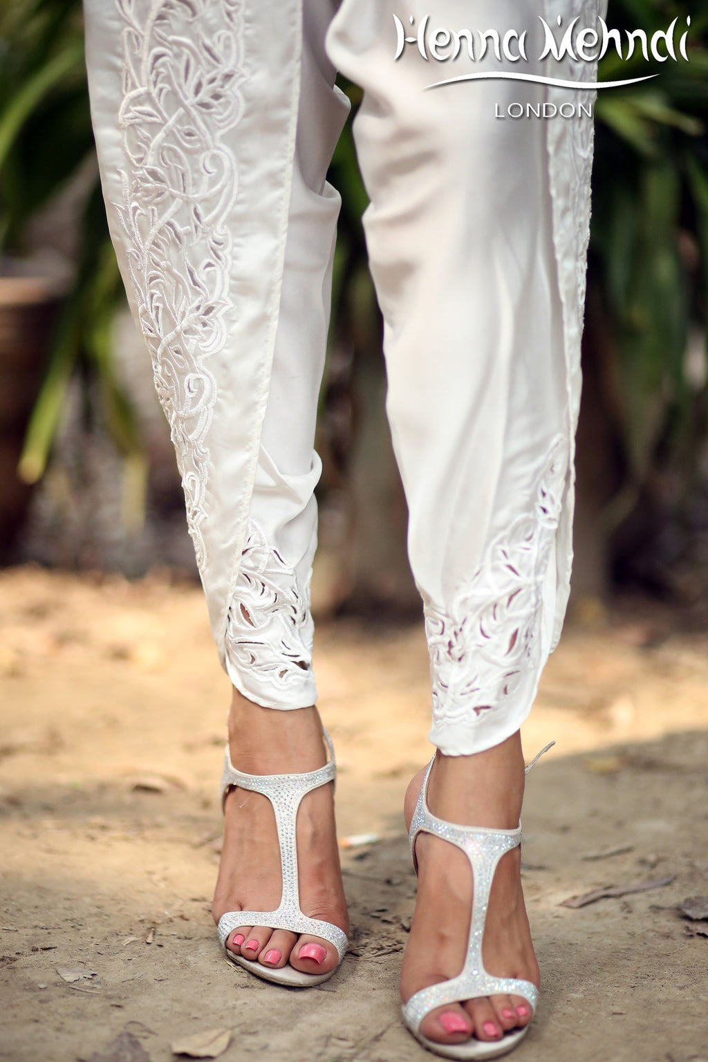 White Embroidered Tulip Shalwaar