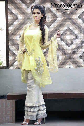 Lemon Embroidered Jacket Outfit