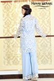 Ice Blue Embroidered & Embellished Outfit - Henna Mehndi