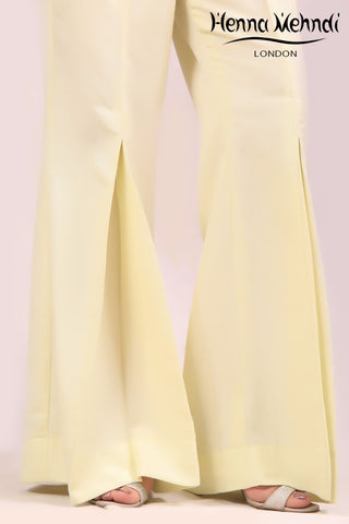 Cream Gharara Trousers