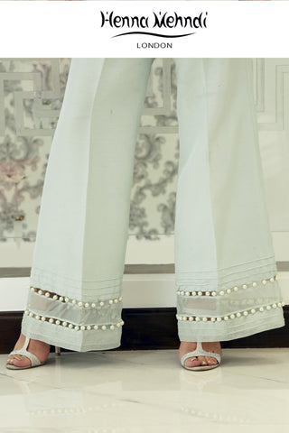 Mint Embellished Trousers