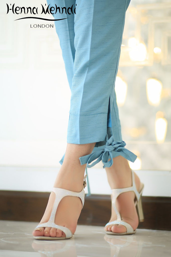 Blue Tie Knot Trousers