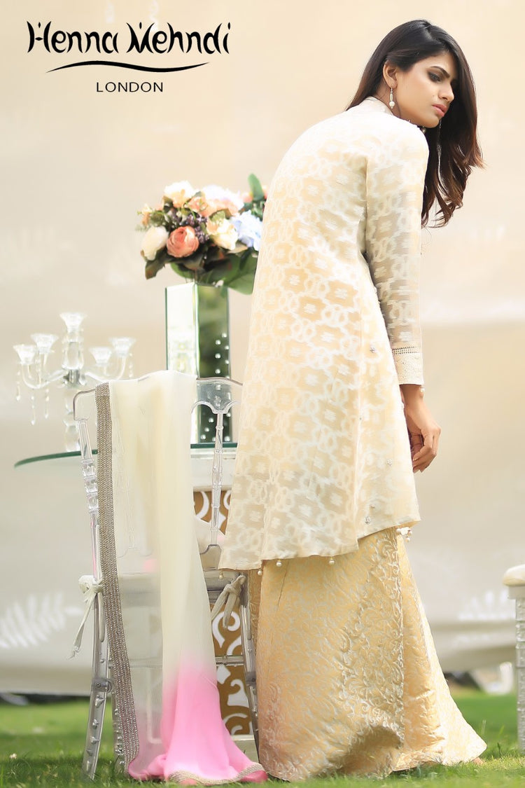 Gold Pearl Embroidered Outfit