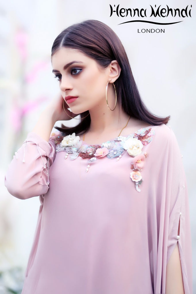 Pink Sequinned Embroidered Top