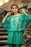 Teal Diamante Embroidered Top