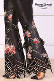 Black Embroidered & 3D Embellished Trousers